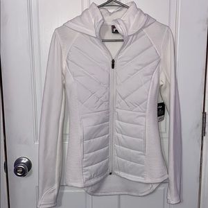 white jacket with built in vest